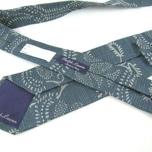 RALPH LAUREN Purple Label Tie Blue Gray Woven